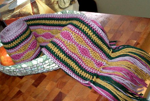 Crocheted Wave Scarf