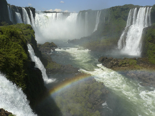 amazing view of devil's throat in Iguacu Falls