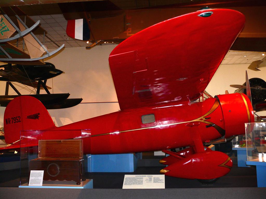 Lockheed Vega 5b, flown by Amelia Earhart in her 1932 transatlantic solo flight.