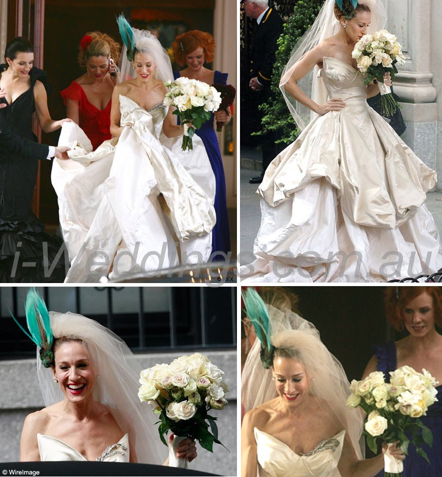 iLoveThese shots of Carrie's wedding dress
