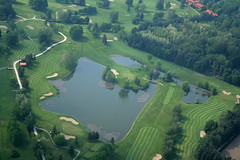 Golfclub Monticello (_ Night Flier _) Tags: above travel sky italy panorama como green nature sport golf airplane landscape flying high view earth top aviation aerial fromabove sporting monticello lombardia cessna skyview lombardy birdeye aeronautic golfclubmonticello