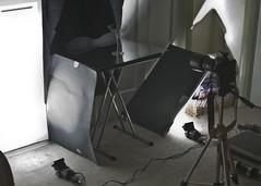 Setup shot for my dark field lighting photo (planetoftheweb) Tags: lighting black field shot setup