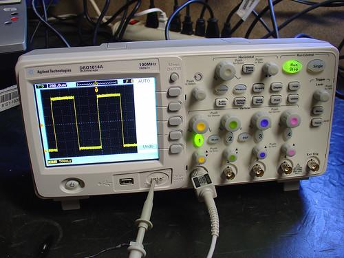 My New Oscilloscope The Agilent Dso1014a Mightyohm