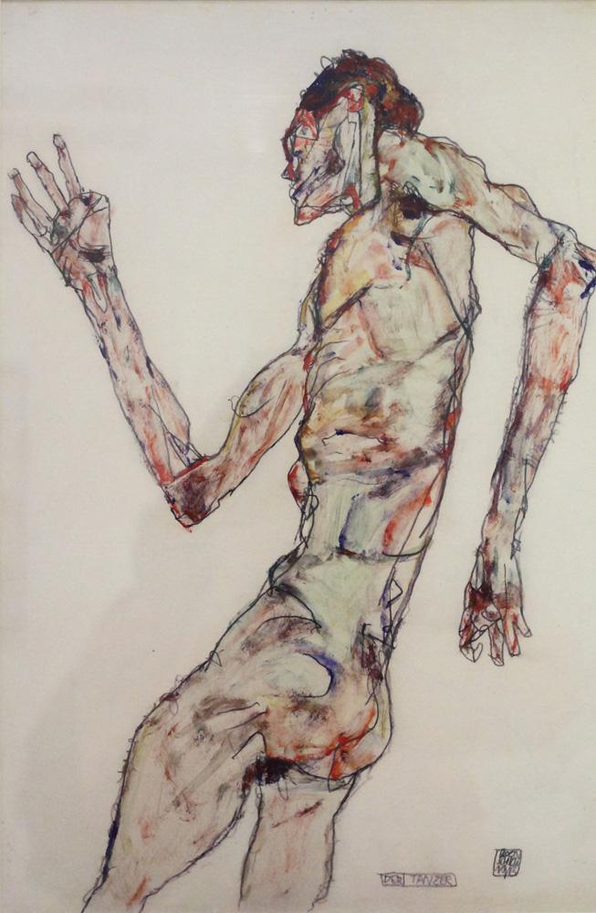 Egon Schiele, Der Tänzer [The Dancer], 1913