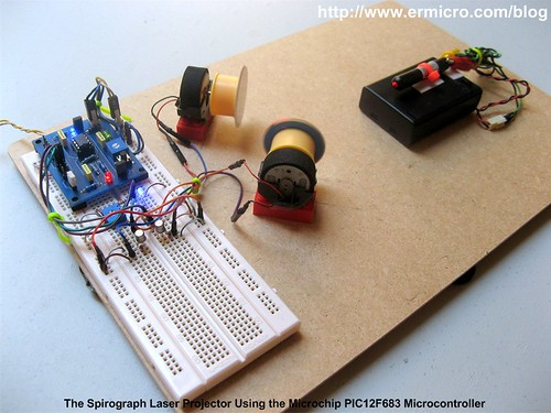 Building your own Simple Laser Projector using the Microchip PIC12F683 Microcontroller - 1