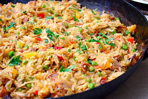 Article first published as Chicken and Chorizo Paella on Blogcritics.