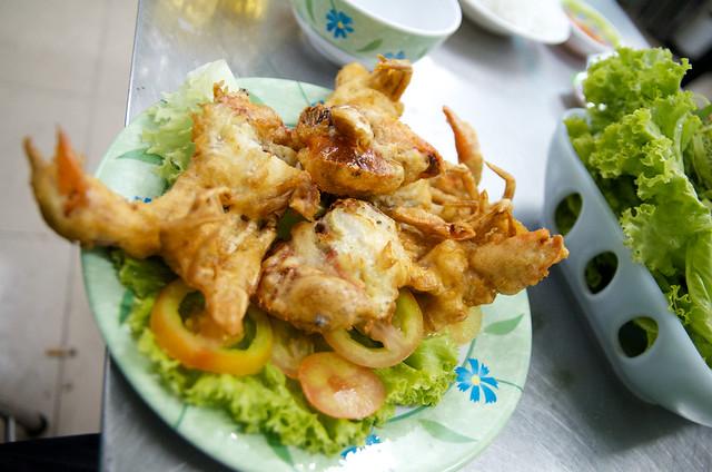 wonderful soft shell crab at Quan 94