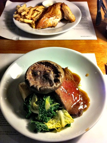 Roast Free Range Chicken and Roast Beef with Yorkshire Pudding - Canteen, Royal Festival Hall