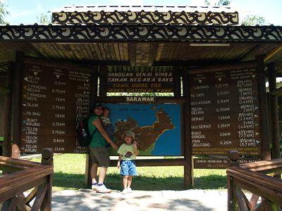 Bako trail signboard