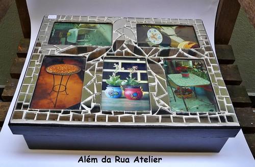 Caixa em mosaico, para fotos