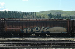 Hoek #1 (A & P Bench) Tags: train bench graffiti steel canadian graff railways railfan freight rolling rollingstock fr8 benching