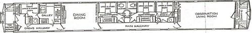 Private Rail Car - Virginia City plan