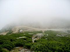 Au retour, Bocca di San Giuvanni dans la brume
