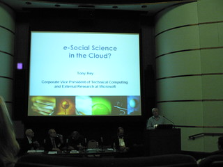 Tony Hey from MSR addressing the eSocial Scien...
