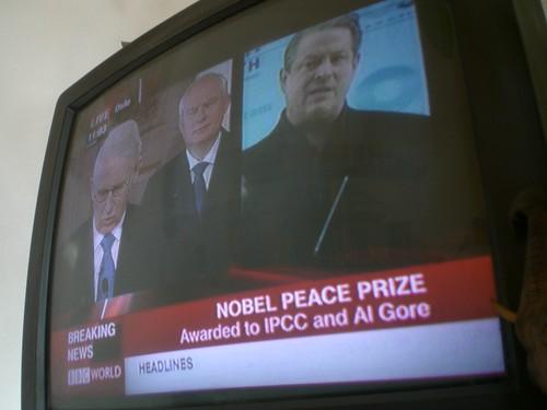Al Gore gana premio nobel la paz