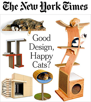 New York Times Designer Cat Furniture Article Oct 11, 2007