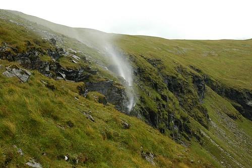 Gravity defying waterfalls