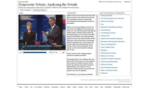 The New York Times-Democratic Debate Analyzing the Details 01