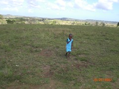 A child in the Galana countryside