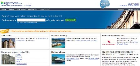 rightmove.co.uk - new homepage