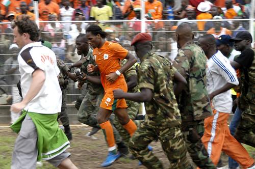 Didier Drogba: Ehrenrunde im Stadion von Bouaké