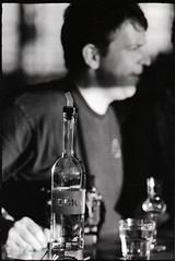 still life with dave and vodka (doublecappuccino) Tags: sf film eos30 davidteter october5th minimixr dottiefest neopan400vodkabartrixpushed2street