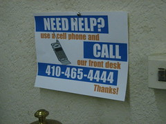 Need Help? Call our front desk