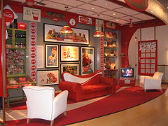 coke living room (jkenning) Tags: atlanta cocacola worldofcoke 2007 cokemuseum