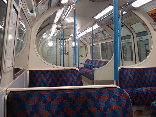 Empty Victoria Line Tube Train