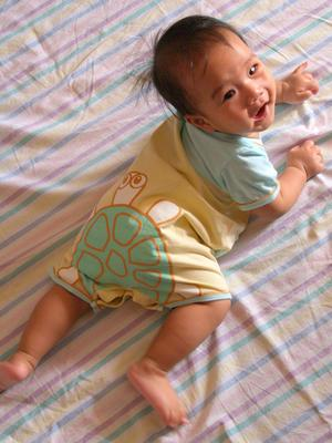 Julian's turtle romper