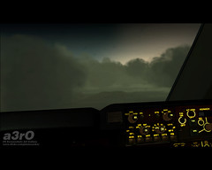 Between Heaven & Hell (a3rO) Tags: rain clouds pdx fs2004 fs9 b744f krscargo