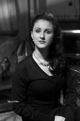 Anna Hollywood Style 1 (Atomic Age Pictures) Tags: portrait anna white black film george noir hollywood hurrell
