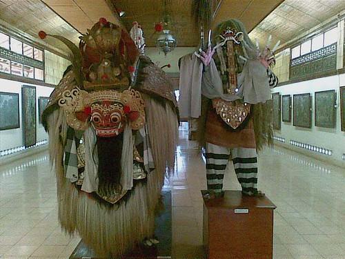 Balinese Character Barong and Rangda