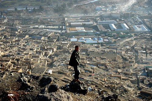 Bird's eye view of Kabul from TV Mountain