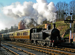 Taff Vale tank at Bewdley (geoffspages) Tags: railway steam uksteam
