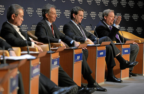 Tony Blair, David Harris, Rick Warren - World Economic Forum Annual Meeting Davos 2008