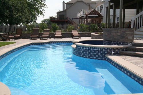 signature pools and spas colonial in ground fiberglass pool chicago illinois - Swimming Pool Tile Designs