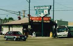 The original Mount Pindo's restaurant. Chicago Illinois. May 1986.