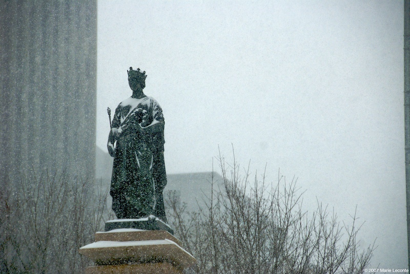 Victoria in the snow