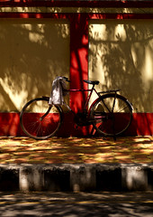 Bike in the former french district, Puducherry, India (Eric Lafforgue) Tags: shadow india bike bicycle democracy shadows indie indi indien velo hind indi inde pondicherry southindia pondichery hodu lightplay southasia indland  hindistan indija   ndia hindustan   lafforgue   ericlafforgue hindia puducherry  bhrat  702267 indhiya bhratavarsha bhratadesha bharatadeshamu bhrrowtbaurshow  hndkastan