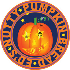 Ed's Nutty Bread Label and Logo (faith goble) Tags: art halloween illustration digital advertising logo pumpkin bread recipe graphicdesign artist photographer bluegrass drawing kentucky ky faith creativecommons poet writer illustrator nutty vector adobeillustrator bowlinggreenky goble bowllinggreen faithgoble grafixer ccbyfaithgoble gographix faithgobleart