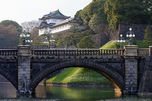 Imperial Palace Gardens Bridge and view of Palace