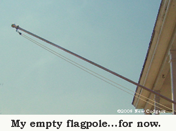 My empty flagpole ©2008 New Codgers