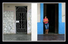 Down On Terminal Street (redmann) Tags: street city woman canon candid cuba sigma scene doorway streetphoto blueribbonwinner ciegodeavila canon400d aplusphoto sigma18200dcos ciegodeavilaprovince