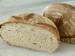 Brown bread (sourdough bread made with Wessex ...