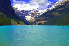 LAKE LOUISE (a walk on the wild side nature photography) Tags: banff lakelouise albertacanada glaciallake blueribbonwinner impressedbeauty snowtoppedmountain overtheexcellence colorfulweekturquoisemonday