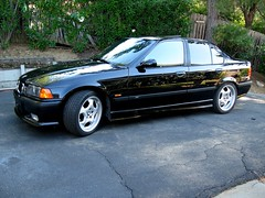 M3 Side (youneverknowphotography) Tags: black reflection tree car shiny bmw 1997 manual m3 cosmos waxed ambers 5speed e36 kidneygrill