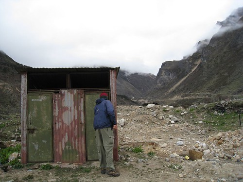 We all use the Army toilet at 4,000 meters