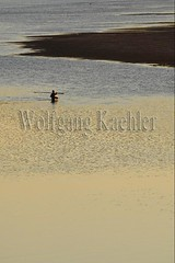 30100770 (wolfgangkaehler) Tags: 2017 asia asian southeastasia laos laotian luangprabang centrallaos town unescoworldheritagesite mekongriver mekong sunset fisherman wading walking water