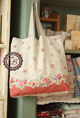 recent fav eco bag (cottonblue) Tags: home rose japan vintage bag japanese diy handmade linen sewing decoration craft fabric cotton tote shabbychic